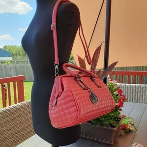 Beautiful Red Quilted Leather Bag